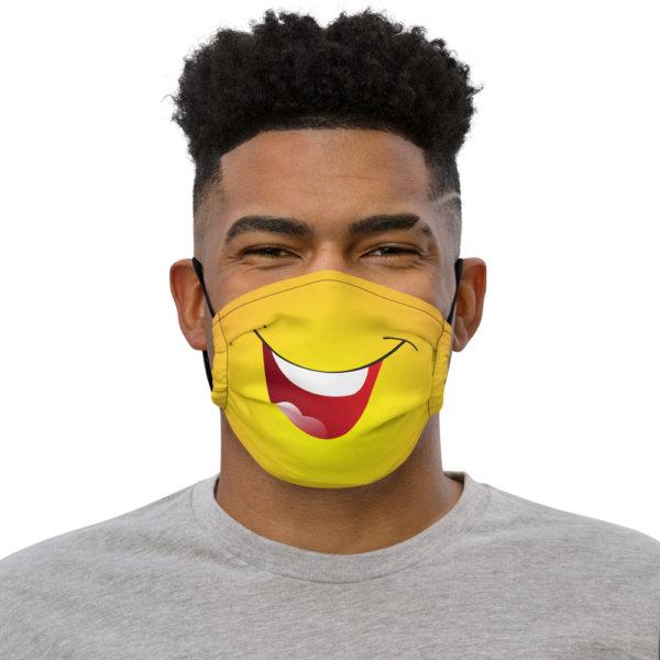 Laughing - Premium Face Mask 1
