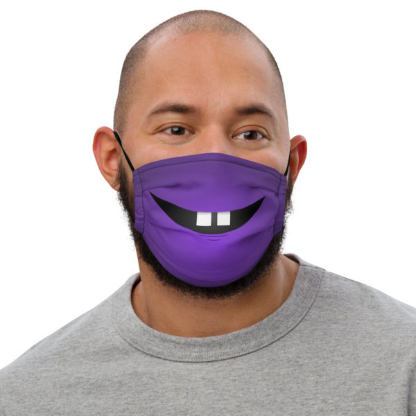Two Front Teeth - Premium Face Mask 1