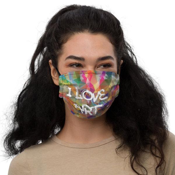 I Love Art - Premium Face Mask 1