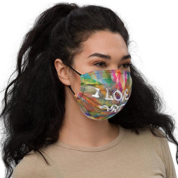 I Love Art - Premium Face Mask 2