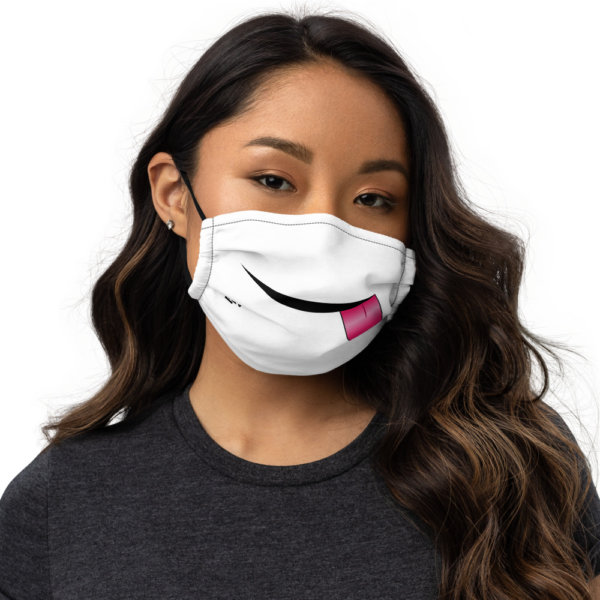 Sticking Tongue Out - Premium Face Mask 1