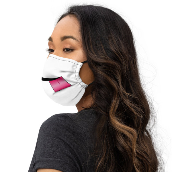 Sticking Tongue Out - Premium Face Mask 3