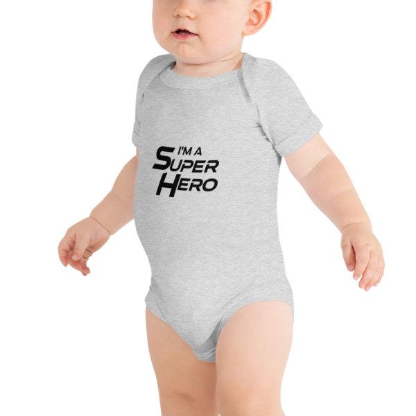 I'm a Superhero - Baby Short Sleeve Onsie 2