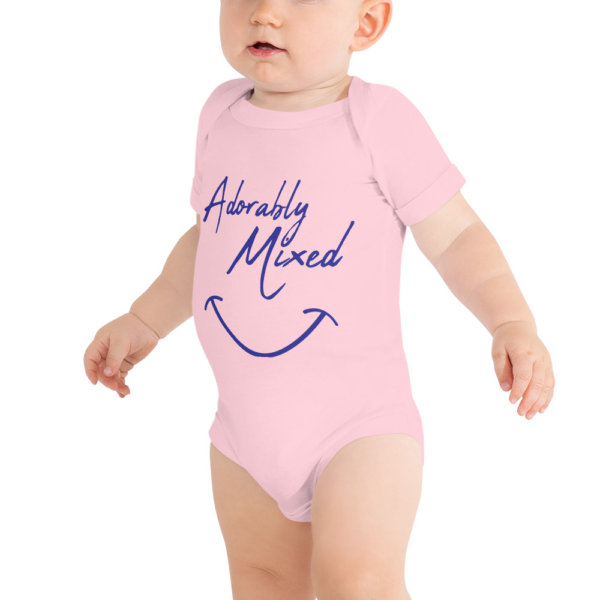 Adorably mixed - Baby Short Sleeve Onsie 3
