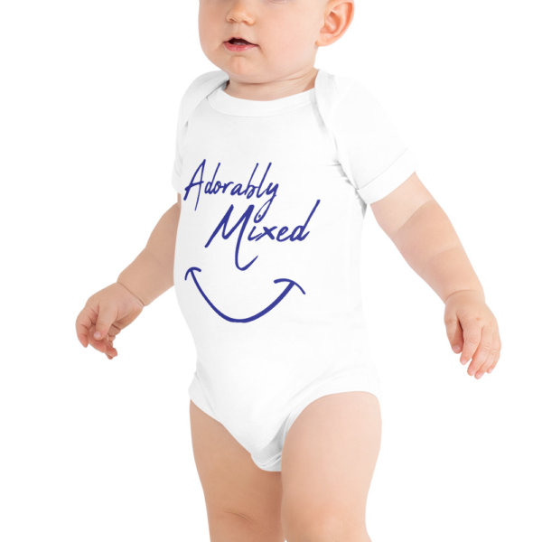 Adorably mixed - Baby Short Sleeve Onsie 4