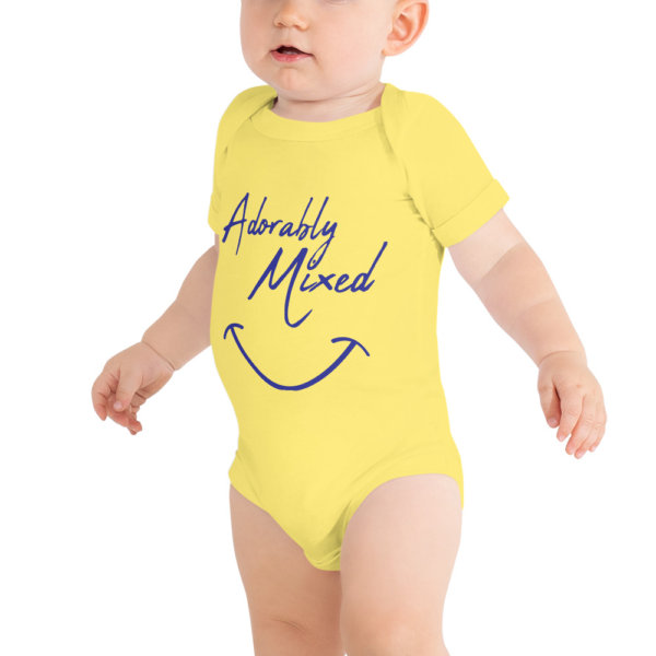 Adorably mixed - Baby Short Sleeve Onsie 1