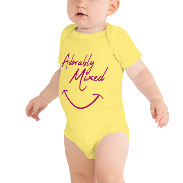 Adorably mixed - Baby Short Sleeve Onsie 2