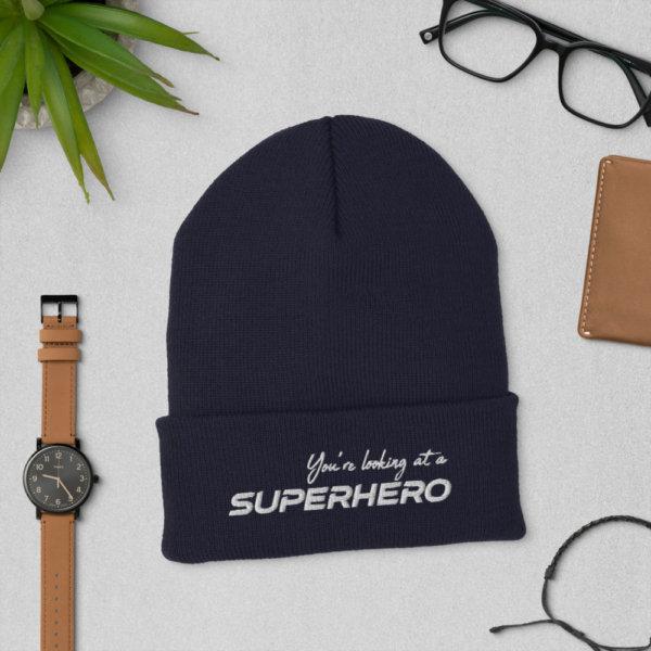 You're Looking at a Superhero - Cuffed Beanie 4