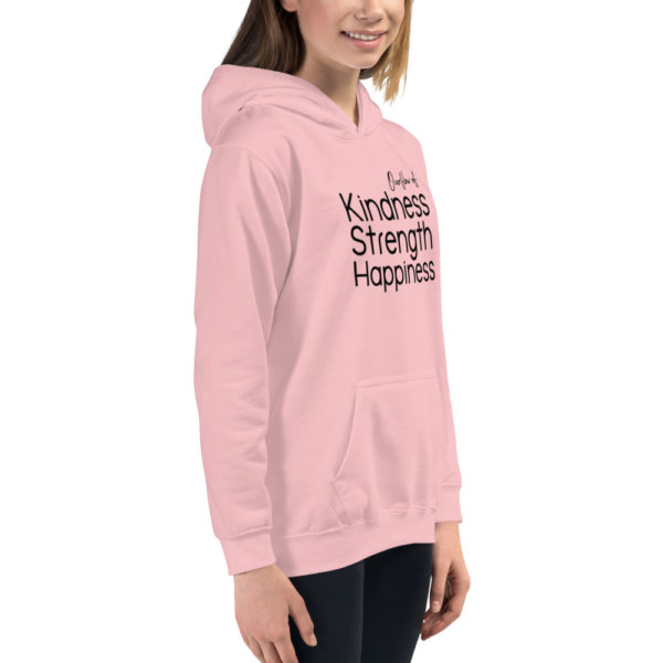 Overflow of Kindness, Strength, Happiness - Youth Hoodie 8