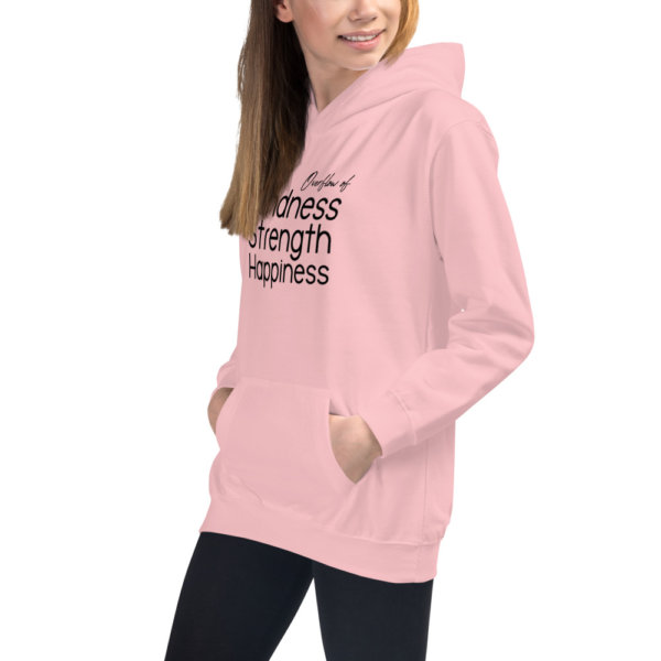 Overflow of Kindness, Strength, Happiness - Youth Hoodie 9