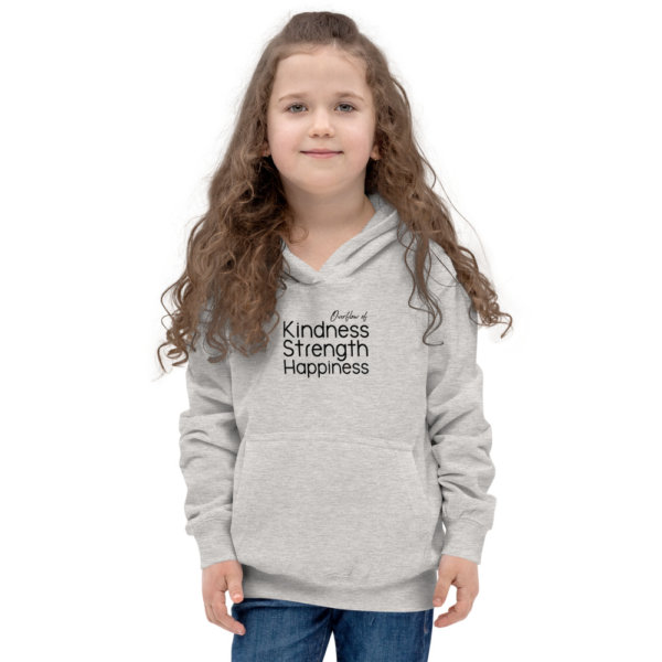 Overflow of Kindness, Strength, Happiness - Youth Hoodie 4