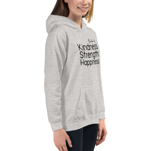 Overflow of Kindness, Strength, Happiness - Youth Hoodie 6