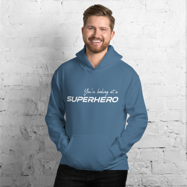 You're Looking At A Super Hero - Men Hoodie 4