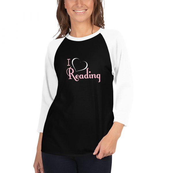 I Love Reading - Women's 3/4 sleeve raglan shirt 4
