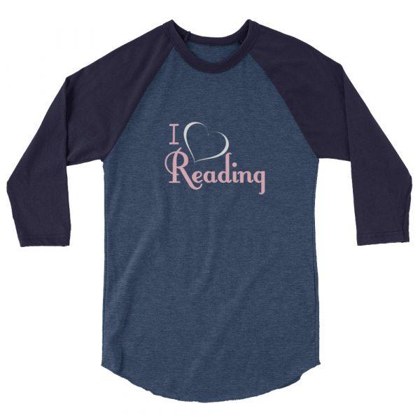 I Love Reading - Women's 3/4 sleeve raglan shirt 3