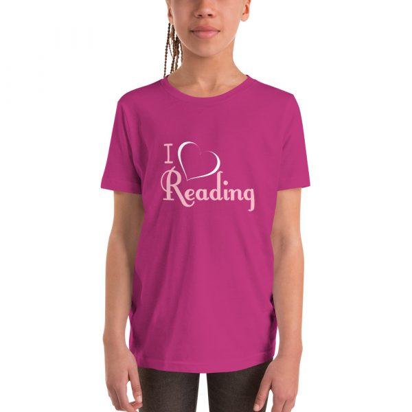 I Love Reading - Youth Short Sleeve T-Shirt 3