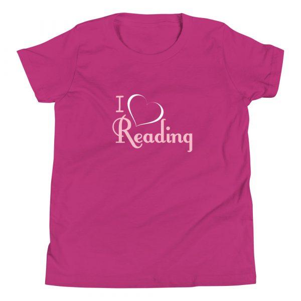 I Love Reading - Youth Short Sleeve T-Shirt 4