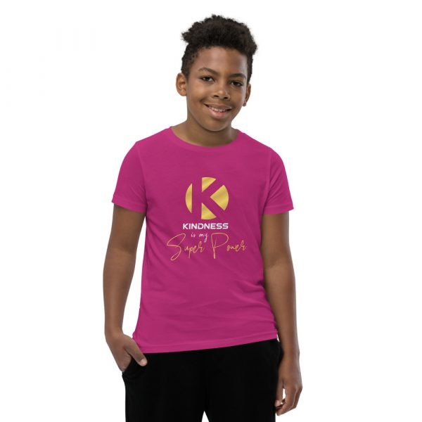 Kindness Is My Super Power - Youth Short Sleeve T-Shirt 8