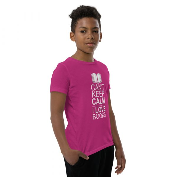 I Can't Keep Calm I Love Books - Youth Short Sleeve T-Shirt 11