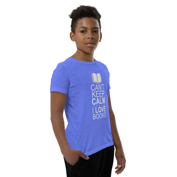 I Can't Keep Calm I Love Books - Youth Short Sleeve T-Shirt 13
