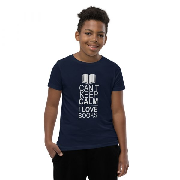 I Can't Keep Calm I Love Books - Youth Short Sleeve T-Shirt 5