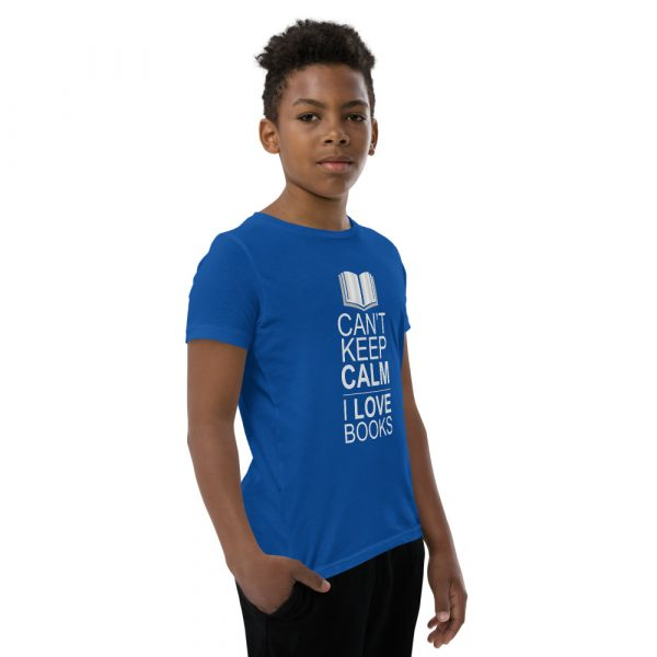 I Can't Keep Calm I Love Books - Youth Short Sleeve T-Shirt 9