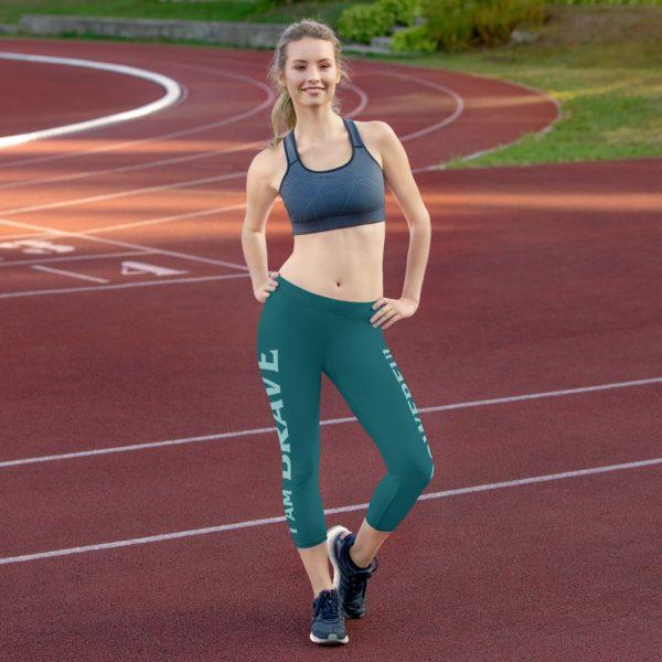 I Am Brave I Am Powerful - Women's Capri Leggings 1