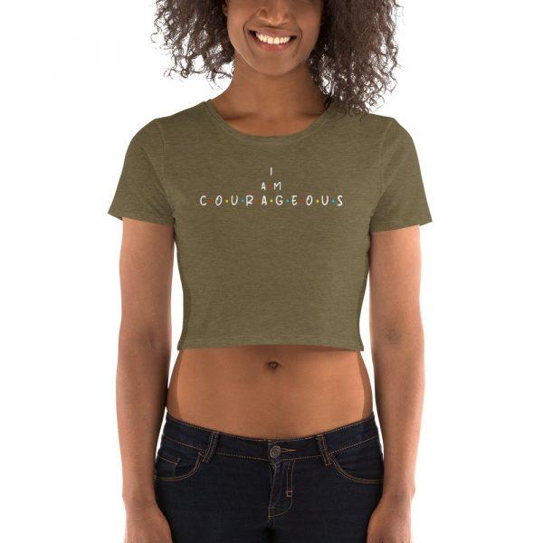 I Am Courageous - Women's Crop Tee 1