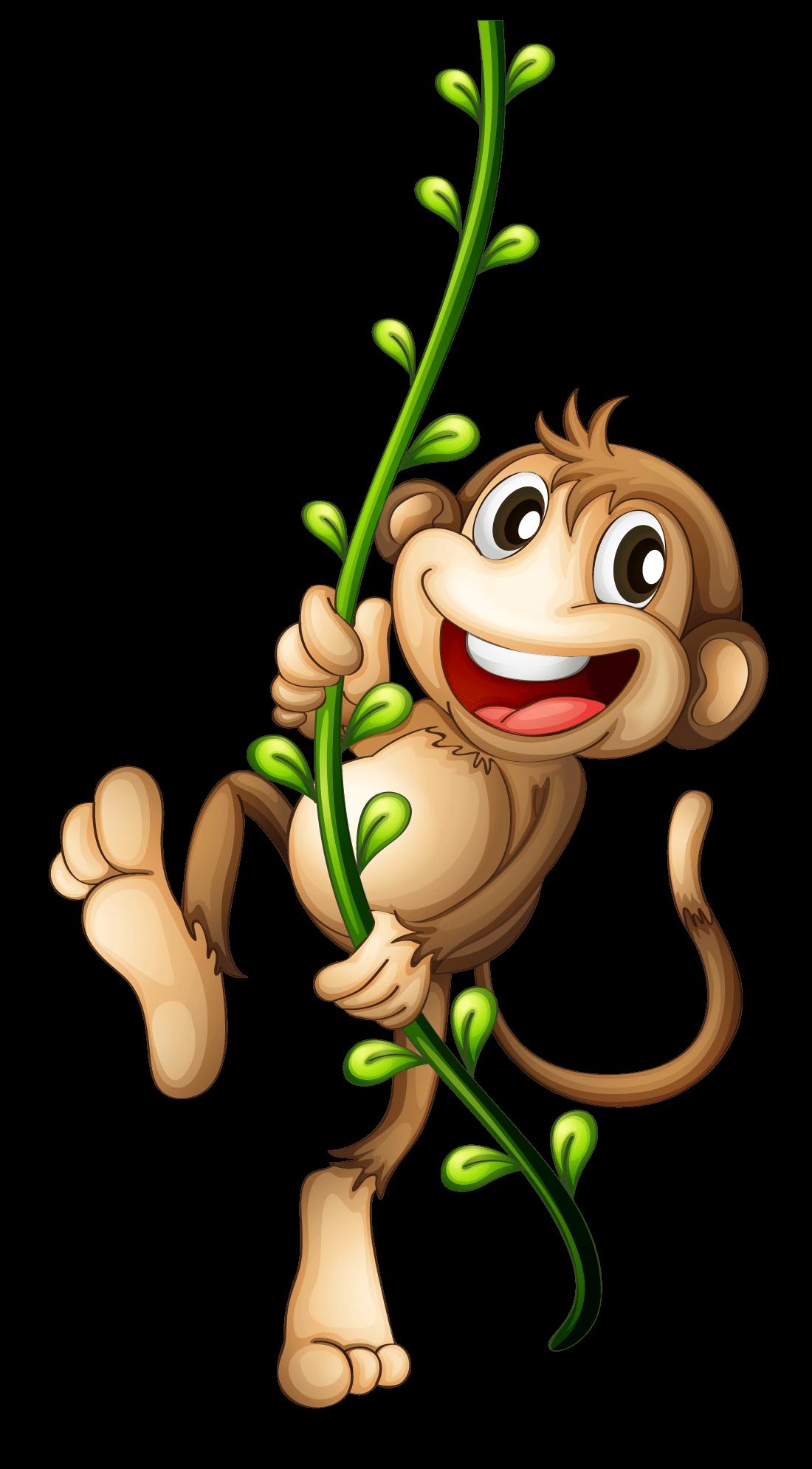 monkey swinging